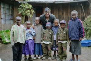With some children in Kenya