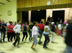 Dancing during Friday night worship