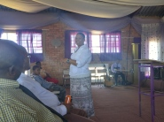 Pastor Yvonne sharing a word
