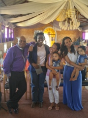 With Pastor Mario, his daughter, her friend, and Pastor's two granddaughters